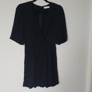 Sandro black woven dress